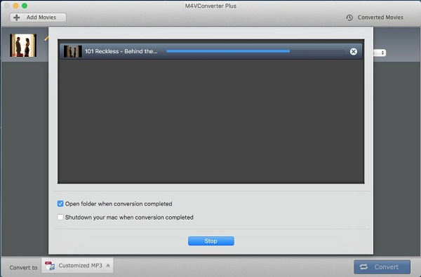 Start converting iTunes M4V files to MP3 audio