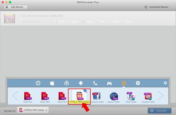 Convert iTunes video to HTML5 MP4 format
