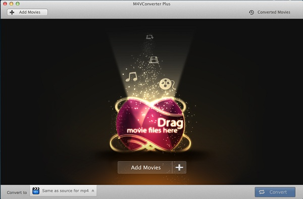 Interface of iTunes M4V Converter