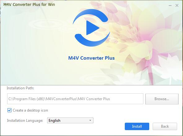 add videos to M4V Converter Plus for Win